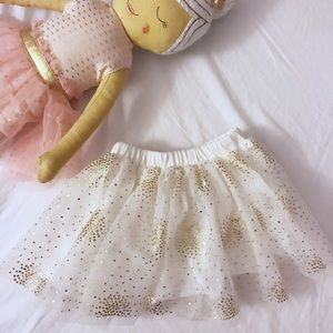 First Impressions Best Baby Girl Tutu Gold